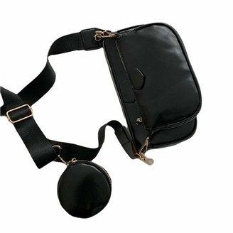 Generic Brands Women Multipurpose Crossbody Bag Shoulder Chain Purse with Strap Including 3 Size Bag (Black One Size)