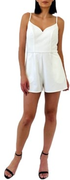Trixxi Juniors' Lace-Back Romper
