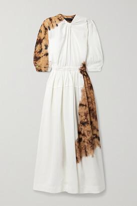 Proenza Schouler Cutout Tie-dyed Twill Maxi Dress - Bronze