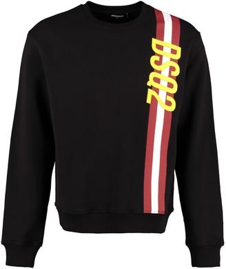 DSQUARED2 Logo Detail Cotton Sweatshirt