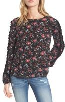 BP Women's Ruffle Trim Floral Print Top