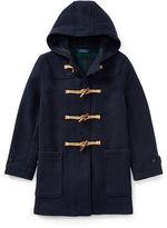 Ralph Lauren 8-20 Wool-Blend Toggle Coat