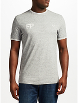 Fred Perry Logo T-shirt, Vintage Steel Marl