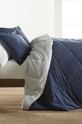 IENJOY HOME Treat Yourself To The Ultimate Down Alternative Reversible 3-Piece Comforter Set - Navy - King
