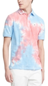 Tommy Hilfiger Men's Ivy Classic-Fit Tie-Dyed Polo Shirt