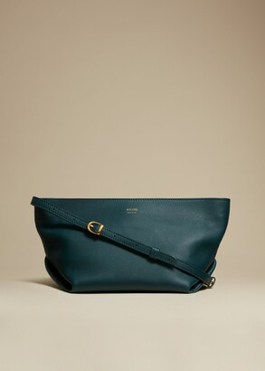 KHAITE The Adeline Crossbody Bag in Hunter Green Leather