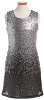 Ruby & Bloom Girl's Ombre Sequin Sheath Dress
