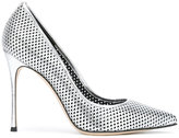 Sergio Rossi perforated pumps - women - Leather/Other fibres - 37.5