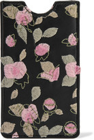 RED Valentino Embroidered leather iPhone case