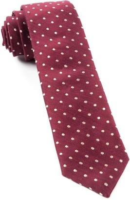 Tie Bar Dotted Dots Burgundy Tie
