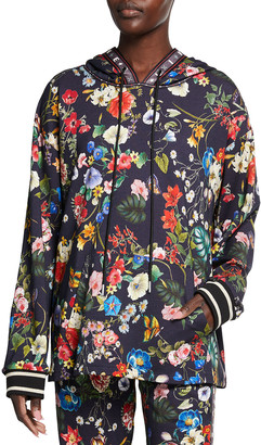 Johnny Was Meadow Floral Print Pullover Hoodie