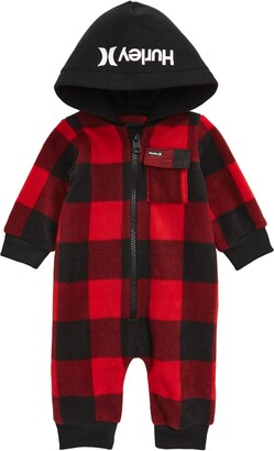 Hurley Plaid Hooded Coverall