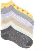 Kelly & Katie Women's Floral No Show Socks - 6 Pack -Grey