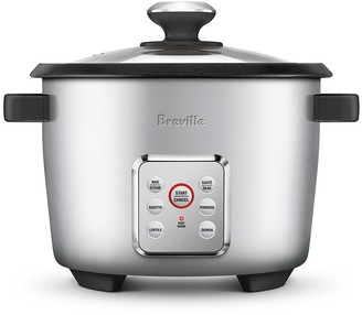 Breville The Multi Grain Brushed Stainles Steel Rice Cooker 10 Cup