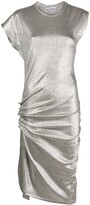 Paco Rabanne gathered side jersey dress