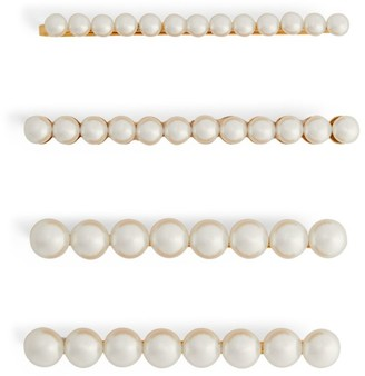LELET NY Pearl Embellished Hair Slides (Pack of 3)