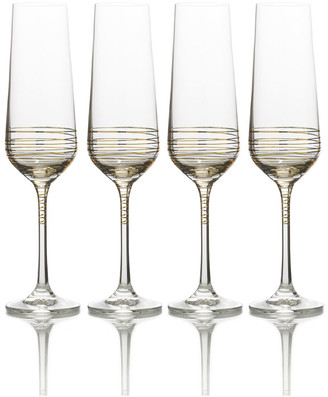 Mikasa Electric Boulevard Champagne Flutes, Set of 4