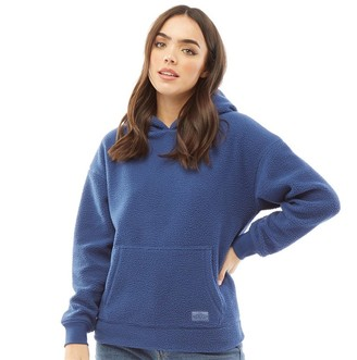 Board Angels Womens Fleece Hoodie Denim Blue
