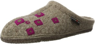 Haflinger Unisex Adults' Walktoffel Geo Open Back Slippers