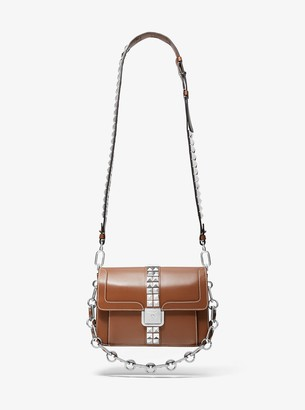 Michael Kors Crawford Studded Leather Crossbody Bag