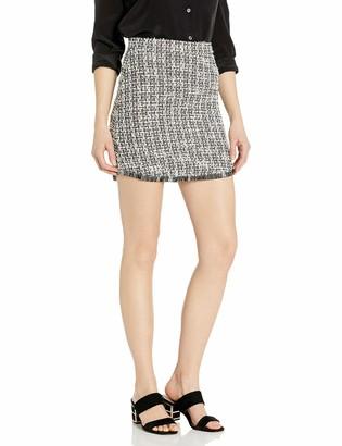 BB Dakota Women's Tweed Mini Skirt