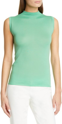 St. John Sleeveless Featherweight Fine Gauge Cashmere Sweater