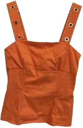 Twin-Set Twin Set Orange Cotton Top for Women