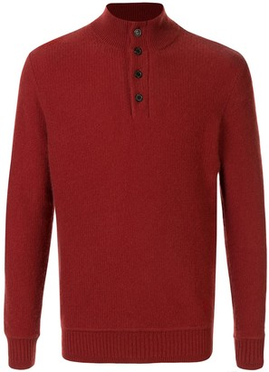 Gieves & Hawkes Button-Collar Knitted Jumper