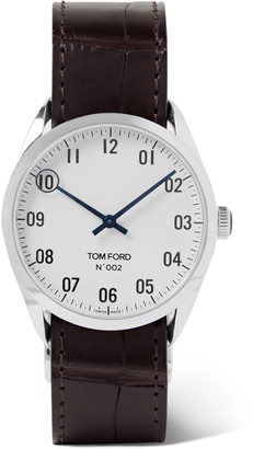 Tom Ford Timepieces 002 38mm Stainless Steel And Alligator Watch