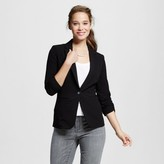 XOXO Women's Rouched Sleeve Blazer Jacket Juniors')