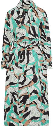 Roberto Cavalli Printed Shell Trench Coat