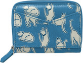 Cath Kidston Mono Cats Zipped Purse with Mirror