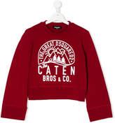 DSQUARED2 moutain print sweatshirt