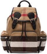 Burberry Medium Canvas Check Rucksack