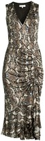 Parker Python Print Ruffled Midi Dress