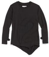 Nununu Toddler Girl's Puffy Number Penguin Shirt