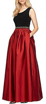 Alex Evenings Beaded Waist Ballgown