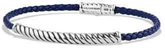 David Yurman Cable Leather Bracelet in Blue
