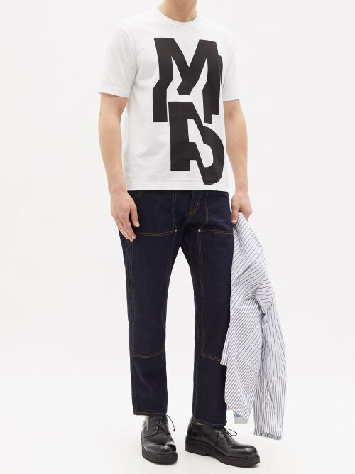 Thumbnail for your product : Junya Watanabe Spin: Adventures In Typography 01 Cotton T-shirt - White