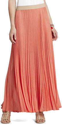 BCBGMAXAZRIA Esten Sunburst Pleated Maxi Skirt