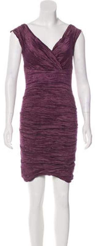 Nicole Miller Mini Cocktail Dress Purple Mini Cocktail Dress