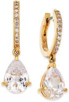 Kate Spade Crystal Huggie Hoop Drop Earrings