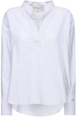 Forte Forte Striped Cotton Blend Poplin Shirt