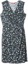 Joe Fresh Women's Print Wrap Dress, Navy (Size M)