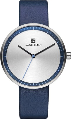 Jacob Jensen Womens Analogue Classic Quartz Watch with Leather Strap JJ282