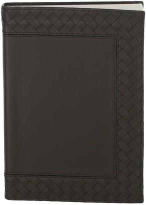 Bottega Veneta Interecciato Leather Notebook
