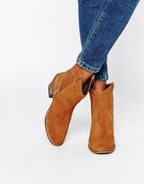 Glamorous Tan Suede Western Boots