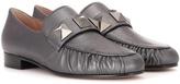 Valentino Garavani metallic leather loafers