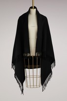 Moncler Wool cape with duvet sleeves