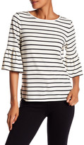 Max Studio Bell Sleeve Striped Tee